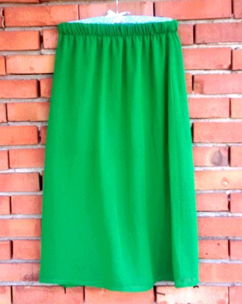 Зелена шифонена пола