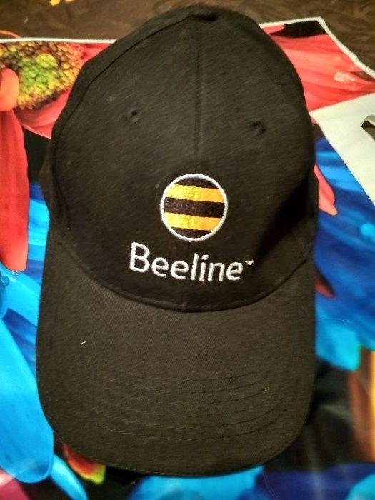 Кепка летняя с логотипом Билайн (Beeline) черная, размер устанавливает