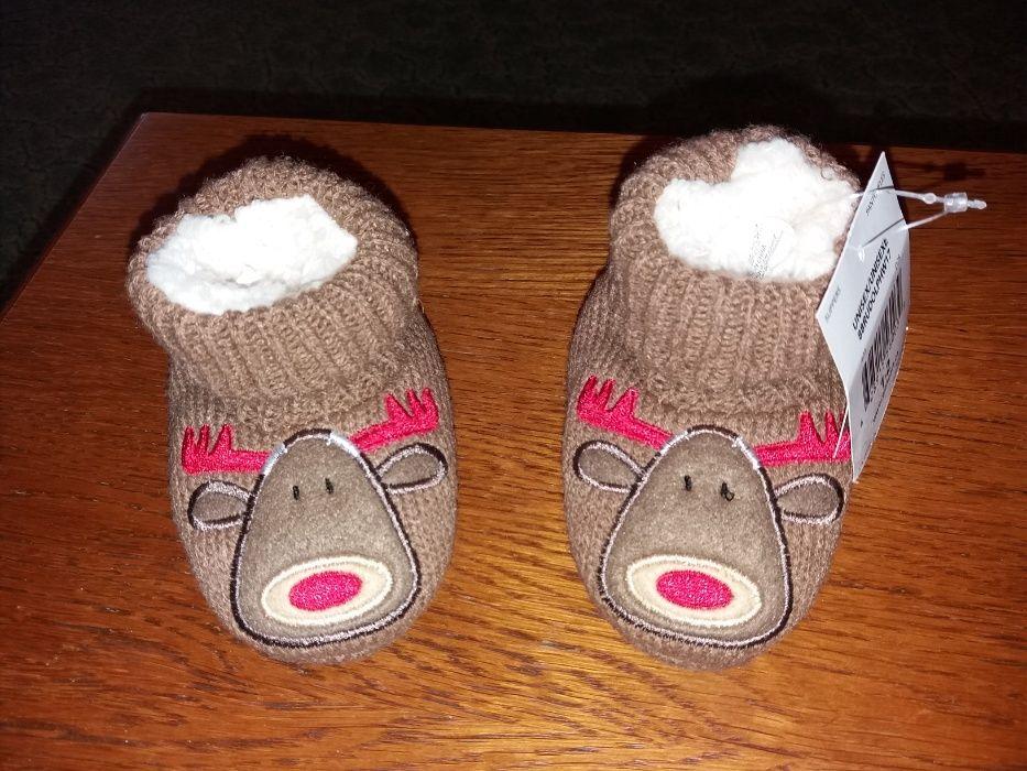 Botosi/papuci casa tricot imblanit elan/ren Canada masura18/11cm talpa