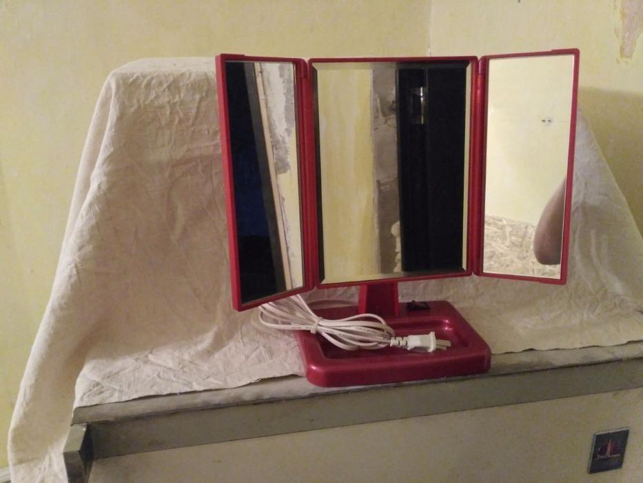 """Зеркало """"Золотой тигр"""" с инфракрасными лучами для ухода за лицом"""