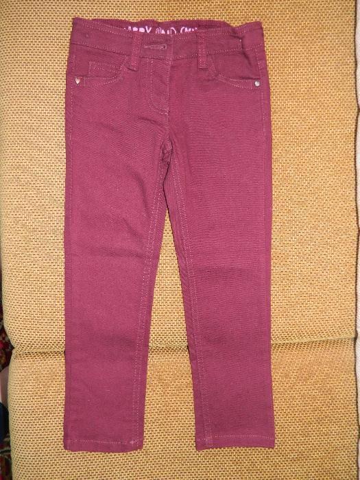 Next - нови детски дънки цвят бордо - внос от Англия