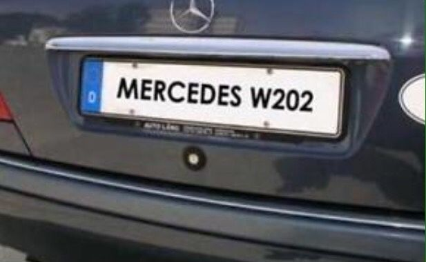 Мерцедес Ц класа 202 Mercedes C220 C36 C43 АМГ Хром лайстна бленда ЛЕД