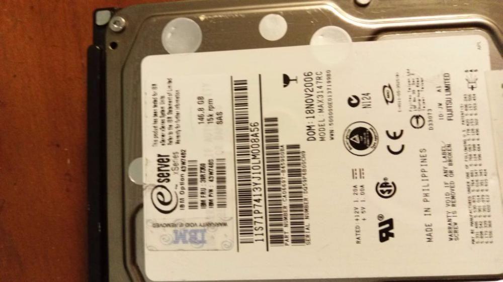 hdd server SCSI si SAS, HP, Dell, IBM 68 -146 Gb