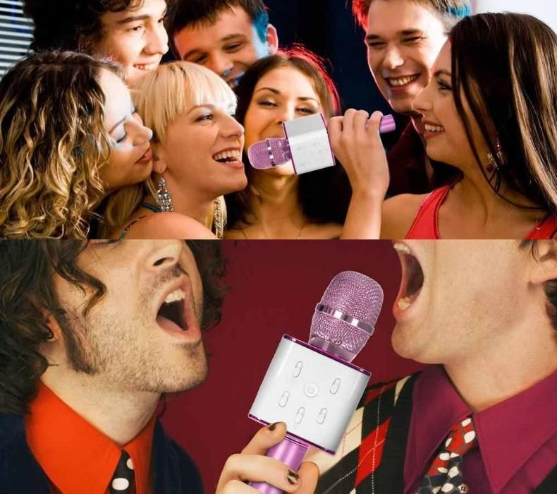 Microfon-boxa cu bluetooth . Distractii reusite karaoke!
