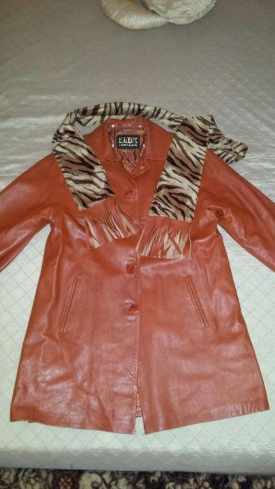 Дамско кожено палто естествена кож