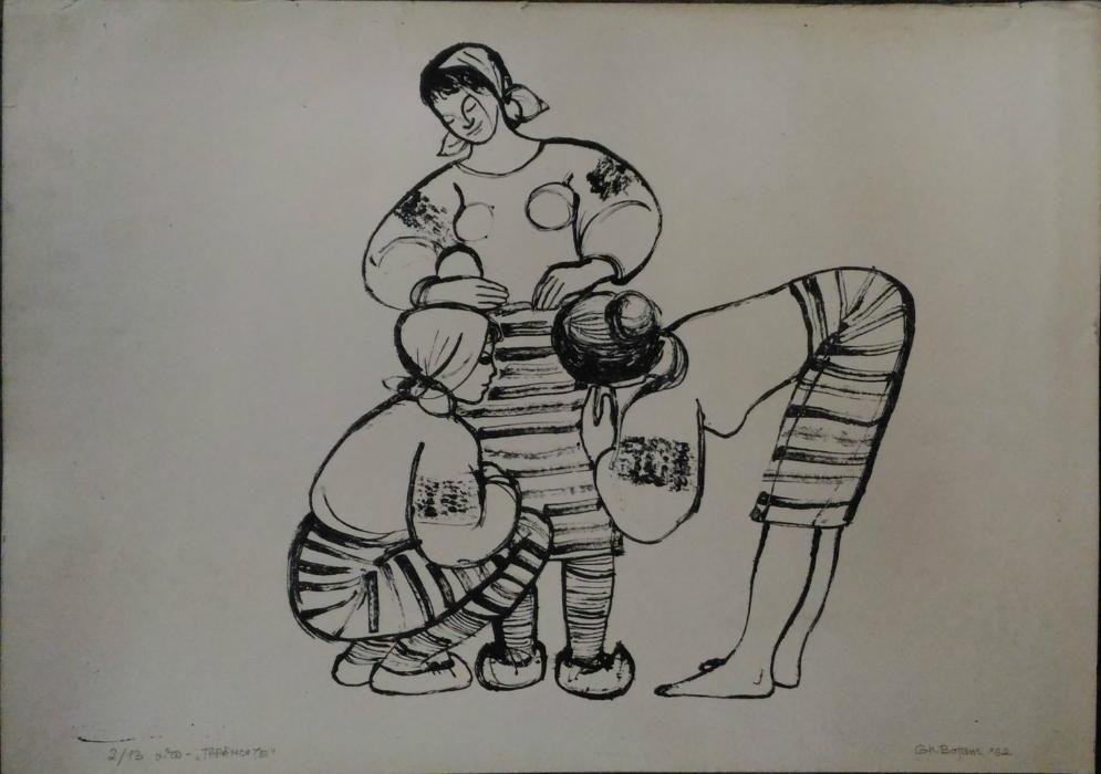 Gravura-''Tarancute''-Lito,dim;45/50cm,Autor;Gh.Botan'1962