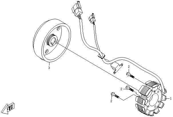 Rotor magnetou Cf Moto 500 , oala magneti cf moto 500