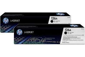 Toner Origina HP 126A CF341A Preto Kit DUO pack