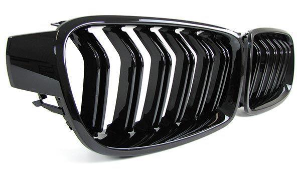 Grile BMW F30 F31 M3 M4 look - finisaj negru lucios