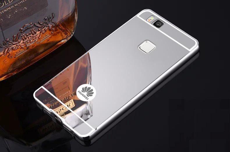 Огледален алуминиев бъмпер кейс калъф за HUAWEI P9 Lite, P9, P10 Lite