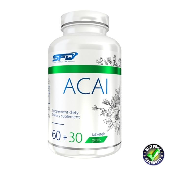 SFD Acai Berry (концентрат 12:1) 500 mg / 90 табл. / Доставка 3 лв!