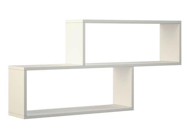 Бяла стенна етажерка-110х20х56 см.