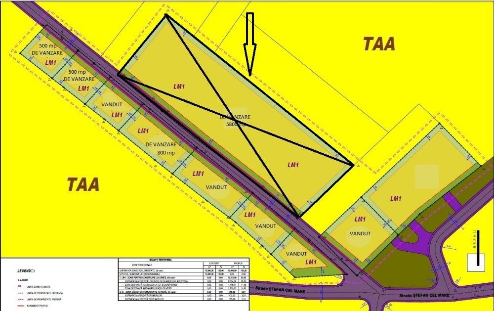 Teren intravilan 5800mp ,Panoramic,PARCELABIL, 125 m deschid strada