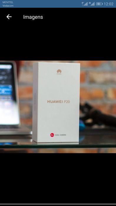 Huawei p20 selado na caixa um cartão