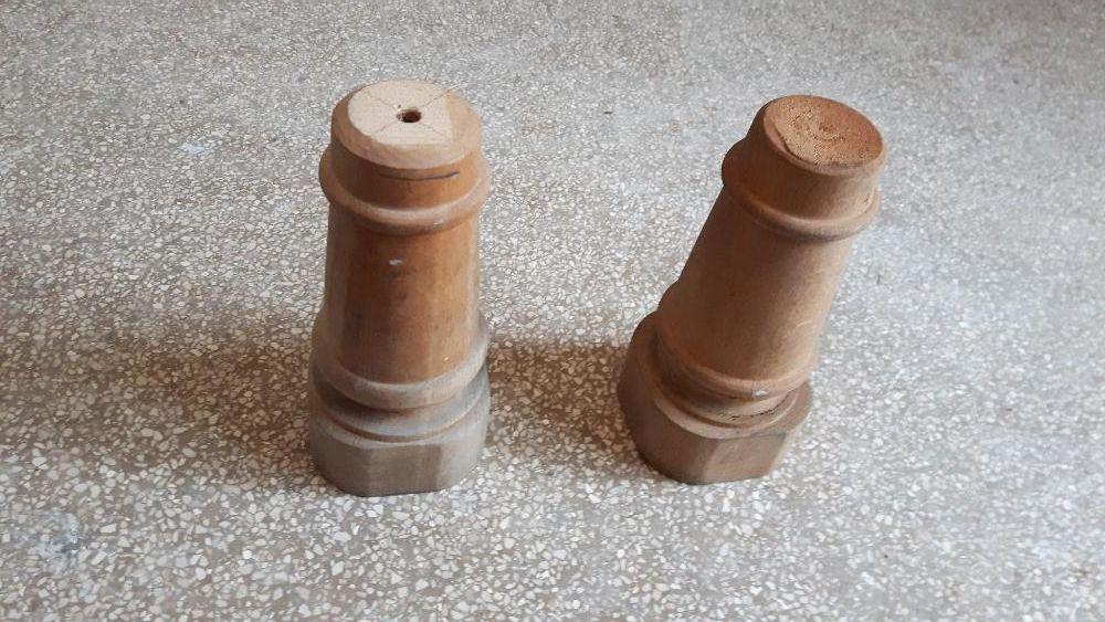 2 picioare suporti lemn mobila H=16 cm