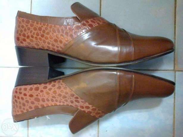 Pantofi barbati noi piele maro tip sarpe PSL Anglia, nr. 42
