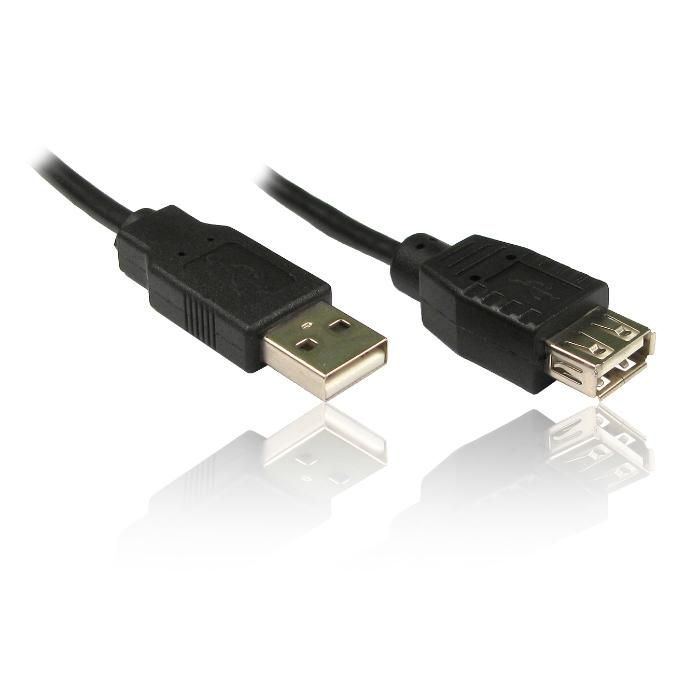 Кабел USB2.0 удължител - мъжко/женско 1.5м - 3.50лв ; 3м - 5.50 лв Кач