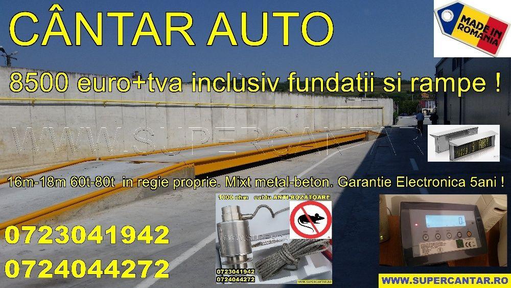 Cantar Auto 60t din beton-metal