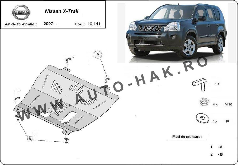 Scut motor metalic Nissan X-Trail T31 2007-2013 - otel 2mm