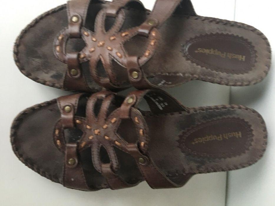 Дамски чехли от естествена кожа Hush Puppies