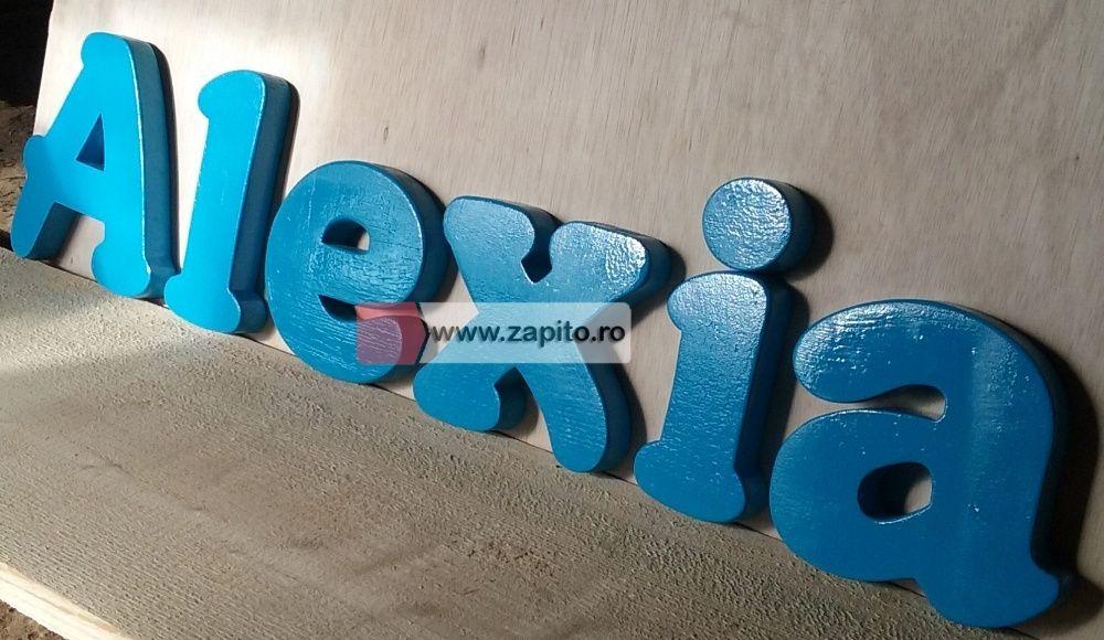 litere personalizate camera copii din lemn la comanda