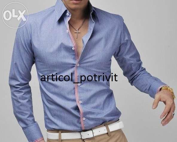Camasa barbati casual slim fit maneca lunga 2015 4 culori