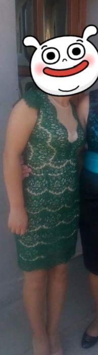 Rochie dantelă verde