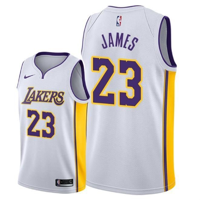 Men 2018-19 Lakers LeBron James City Edition Jersey -