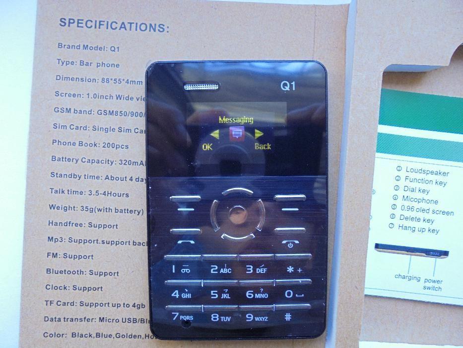 Telefon Mobil-Cel mai mic telefon(88x55x4mm)