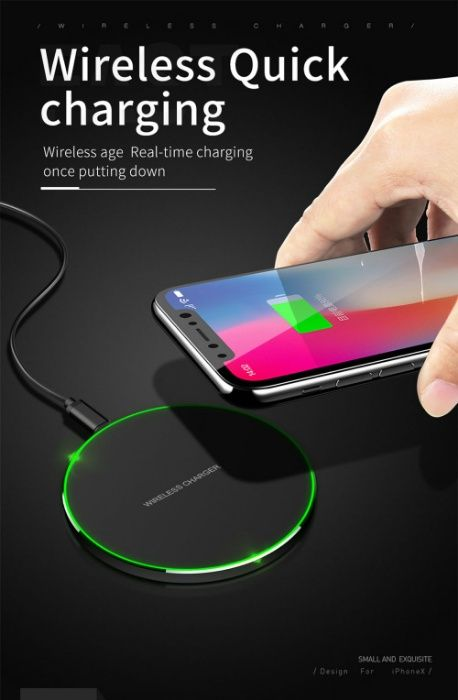 Fast Charger Wireless QI Samsung s8, s8 Plus, s9, s9 Plus, Note 8
