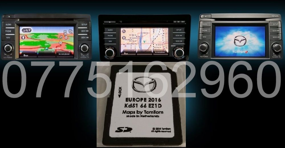 TomTom NB1 Mazda 6 CX-5 CX-9 Harta Navigatie Europa ROMANIA sd card