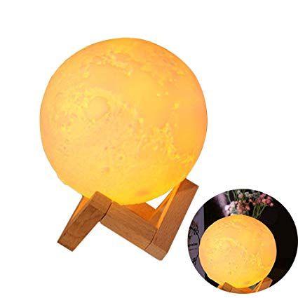 Umidificador de óleo Ar 3D Lua luz de Aroma