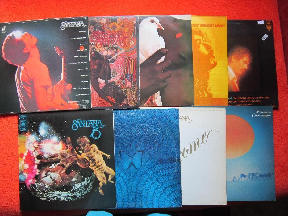 vinil Santana-Colectie 9xLP- CBS-made in Holland 1970- '79, impecabile