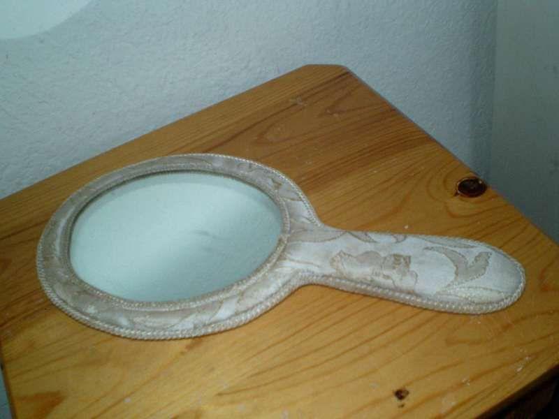 Старино английско огледало в платнена обвивка,само за 80лв!!!