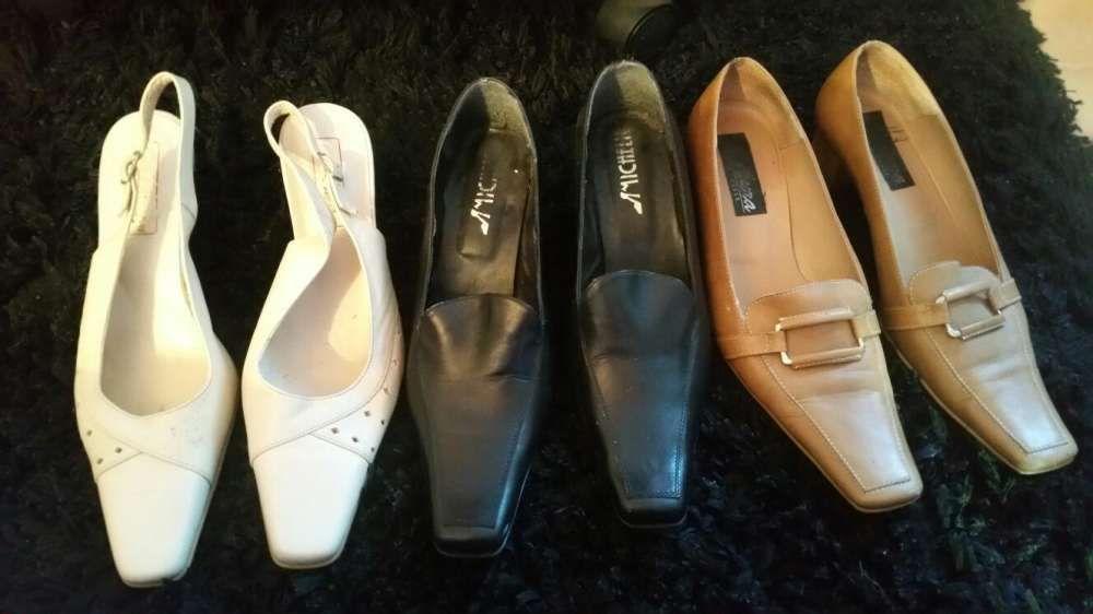 Vând set 3 pantofi din piele