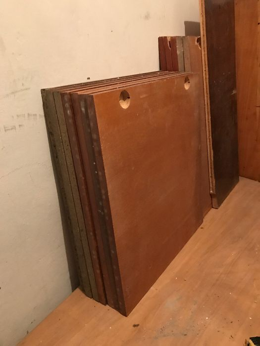 Стари вратички от ПДЧ, фурнировани с естествен фурнир