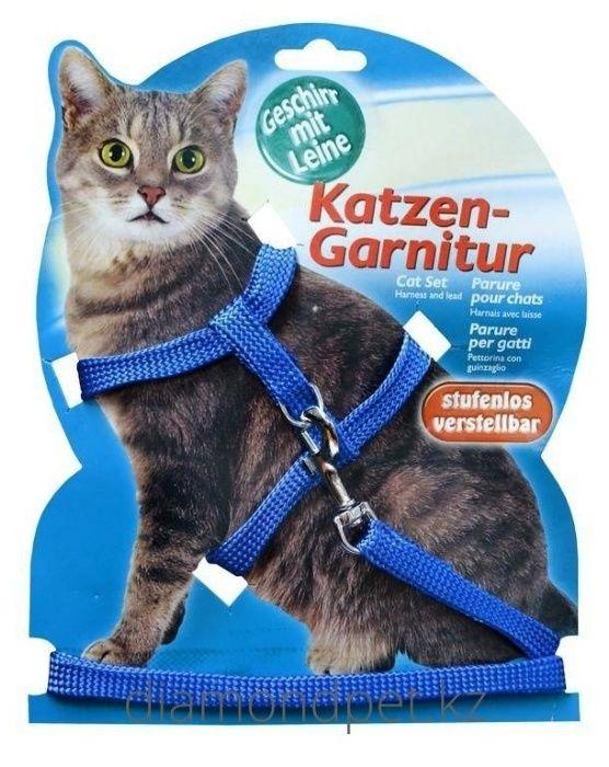 Шлейка c поводком для кошек