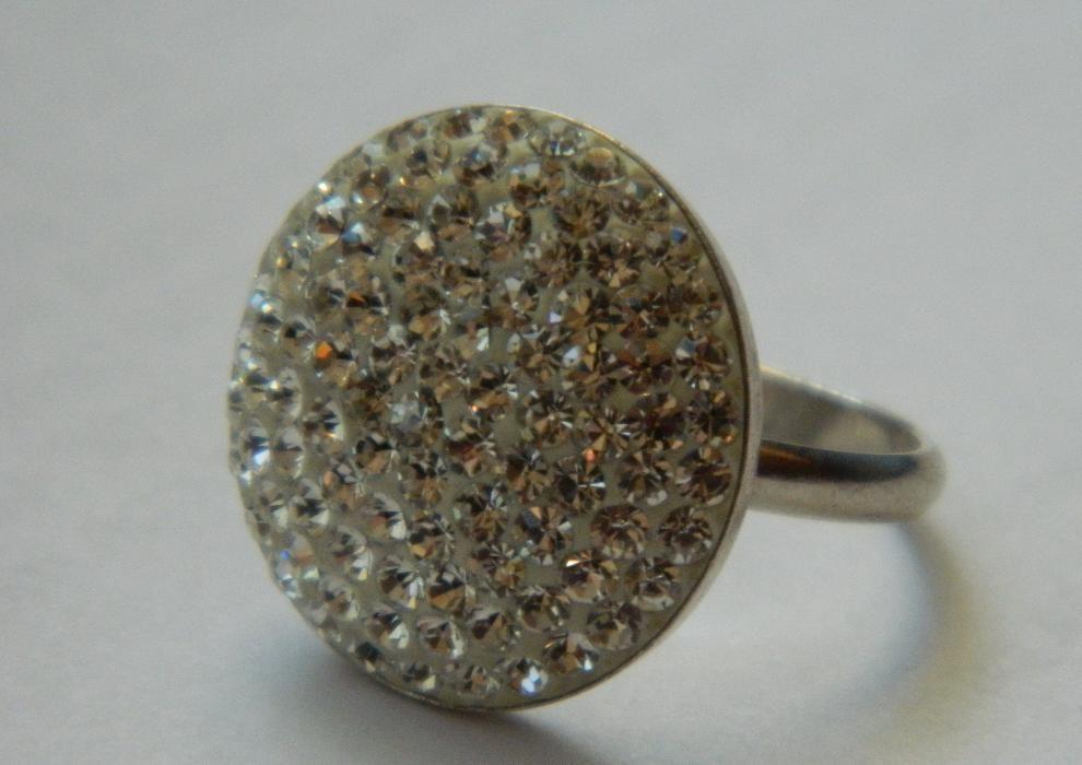 ARG221,inel argint 925,nou/marcat, supradiemnsionat,cristale swarovsky