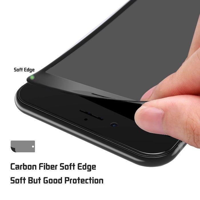 3D full cover стъклен протектор с карбон за iphone 6 6plus 7 7 plus 8