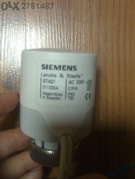 Siemens ел клапан за управление на радиатори