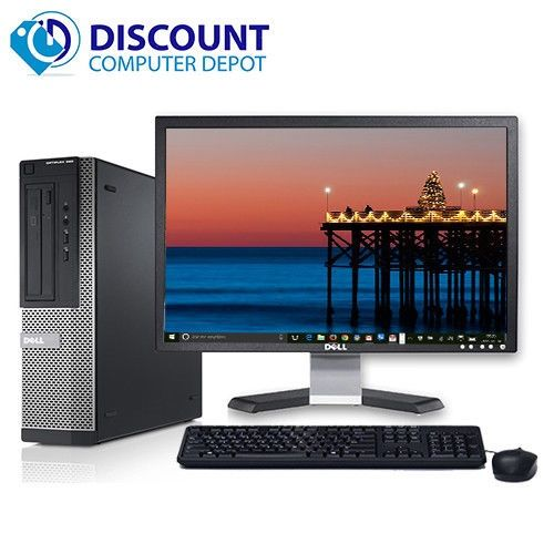 "PC Dell Optiplex Core i3 - 3.1GHz + monitor Dell LCD 19"" + Windows 10"