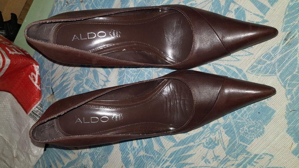 Pantofi Aldo mas 38 de piele maron eleganți cu toc