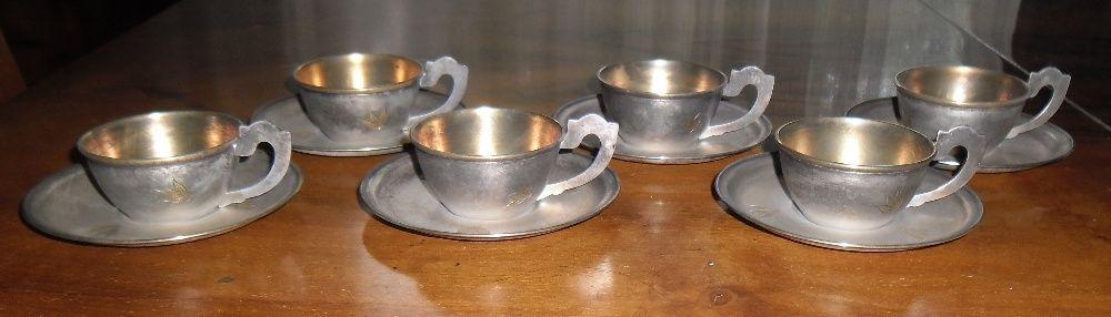 Serviciu cafea pentru 6 persoane, metal