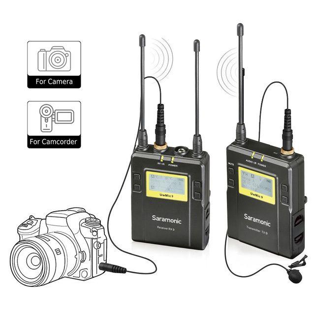 Lavaliera Saramonic Saramonic UWMIC9, UHF Wireless, 96 canale