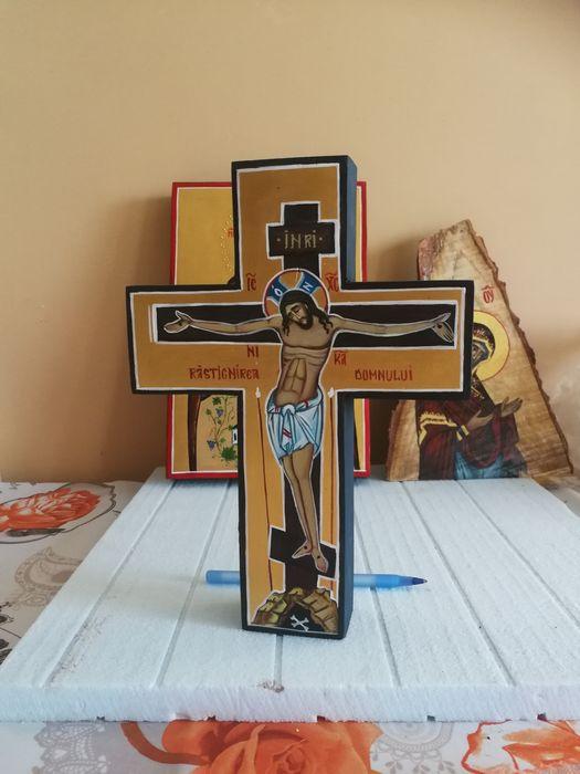 Cruce pictata(mini cruce de birou)
