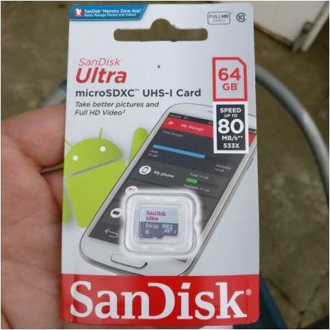 Card micro SD 64 gb clasa 10 80 mbs