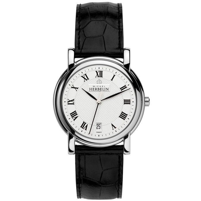 Мъжки елегантен часовник Хербелин с швейцарски мех.и сапфир стъкло