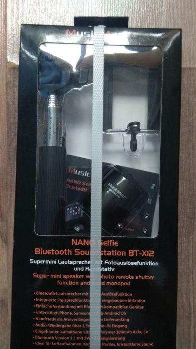 Selfie Stick MusicMan NANO Soundstation BT-X12, Bluetooth, Boxa portab