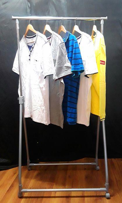 STENDERE (STAND) din metal cromat pentru haine pe umerase - NOI