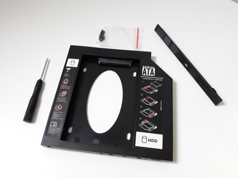 Adaptor - HDD - Caddy SSD 3.0- rack pentru laptop Dvd. 12.7 mm
